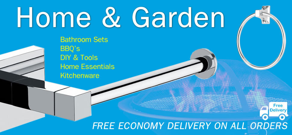 Home and garden, homeware, home range, bathroom sets toilet roll holders, BBQ, diy, tools, kitchenware