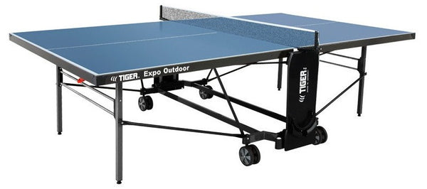 Tiger Expo Outdoor Ping Pong Table Shown in Blue