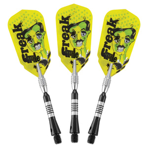 THE FREAK SOFT TIP DARTS KNURLED AND GROOVED BARREL 18 GRAM - VIPER
