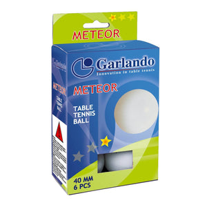 Garlando Meteor 1-Star Table Tennis Balls, Pack of 6