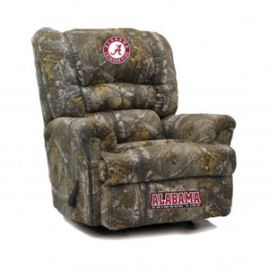 Alabama Crimson NCAA Big Daddy Camo Recliner
