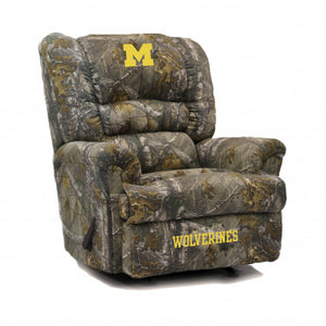 Michigan Wolverines NCAA Big Daddy Camo Recliner