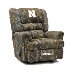 Nebraska Cornhuskers NCAA Big Daddy Camo Recliner