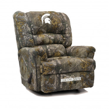 Michigan State Spartans NCAA Big Daddy Camo Recliner