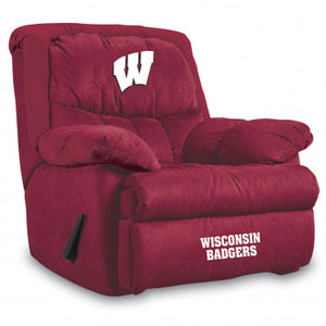 Wisconsin Badgers NCAA Microfiber Home Team Recliner