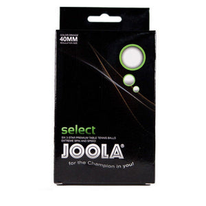 JOOLA Select 3-Star Table Tennis Balls(White, 6-Pack)