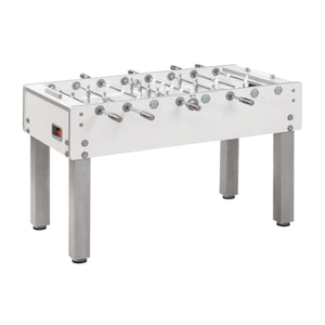 "56"" G-500 White Indoor Foosball Table with Leg Levelers"