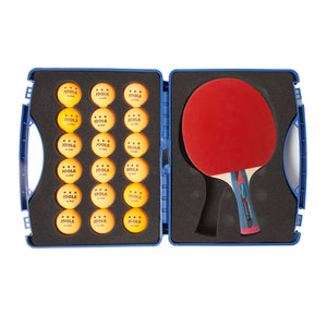 JOOLA Expert Table Tennis Tour Case (Includes Two Rossi Smash Rackets and 18 Balls)