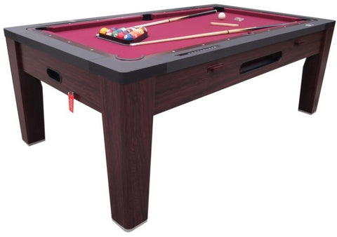 Charming 6 In 1 Multi Game Table In Walnut