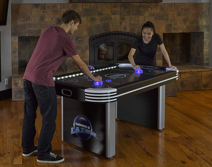 6' Air Hockey Table with All-Rail LED Lighting