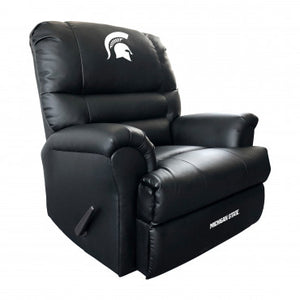 Michigan State Spartans NCAA Sports Leather Recliner