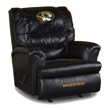 Missouri Tigers NCAA Big Daddy Leather Recliner