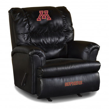 Minnesota Golden Gophers NCAA Big Daddy Leather Recliner
