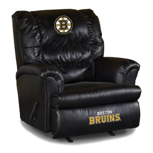 Boston Bruins NHL Big Daddy Leather Recliner