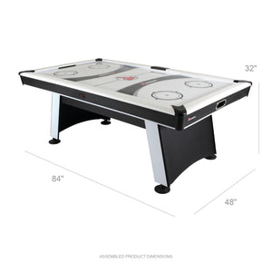 7' Modern Air Hockey Table with Electronic Scoring