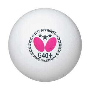 Butterfly G40+ 3-Star Table Tennis Balls - 12 pack