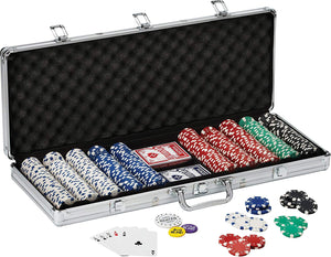 Fat Cat 500 Count Texas Hold'Em Dice Poker Chip Set