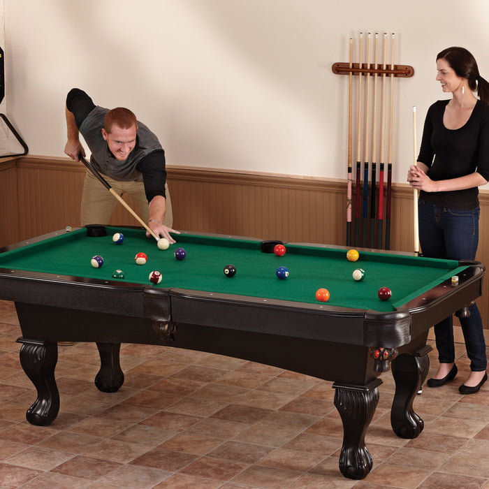 Fat Cat 7' Foot Kansas Billiards Table with Ball and Claw Legs