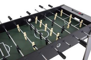 "48"" Modern Foosball Table in Black & Silver"
