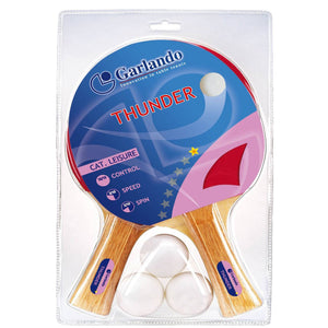 Garlando Thunder 2-Player Table Tennis Racket Set
