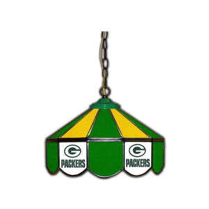 GREEN BAY PACKERS 14-IN. STAINED GLASS PUB LIGHT
