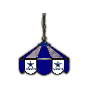DALLAS COWBOYS 14-IN. STAINED GLASS PUB LIGHT