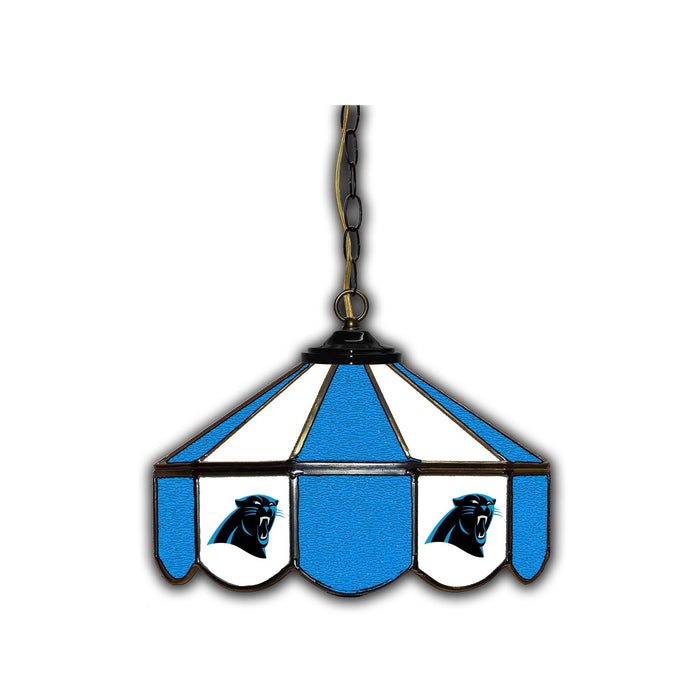 CAROLINA PANTHERS 14-IN. STAINED GLASS PUB LIGHT