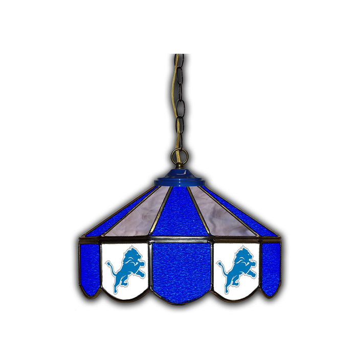 DETROIT LIONS 14-IN. STAINED GLASS PUB LIGHT