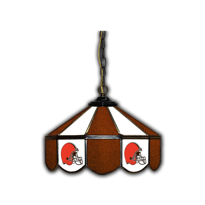 CLEVELAND BROWNS 14-IN. STAINED GLASS PUB LIGHT