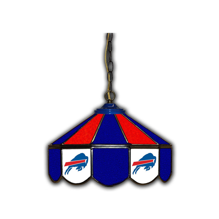 BUFFALO BILLS 14-IN. STAINED GLASS PUB LIGHT