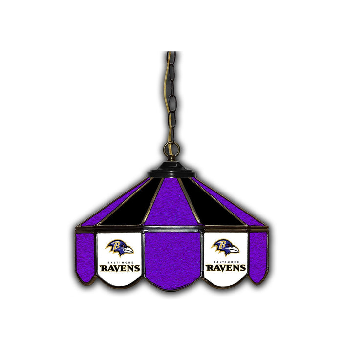 BALTIMORE RAVENS 14-IN. STAINED GLASS PUB LIGHT