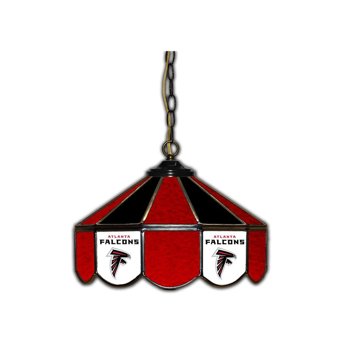 ATLANTA FALCONS 14-IN. STAINED GLASS PUB LIGHT
