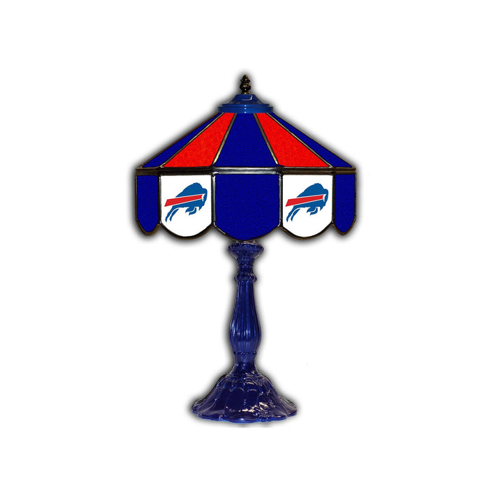 "BUFFALO BILLS 21"" GLASS TABLE LAMP"