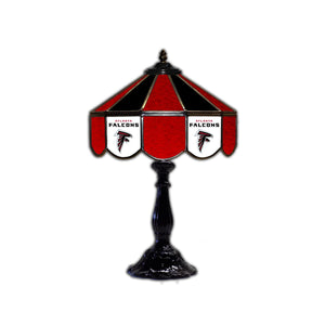 "ATLANTA FALCONS 21"" GLASS TABLE LAMP"