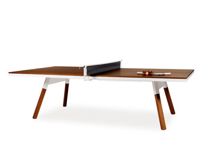 RS Barcelona You and Me Walnut Ping Pong Table