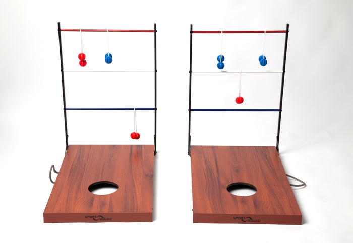 Sport Squad 2-in-1 Cornhole and Ladder Toss Game for Indoor/Outdoor Use