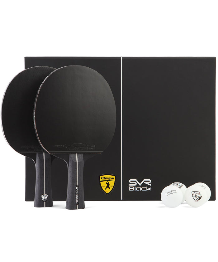 Killerspin SVR 2U Black Ping Pong Paddle Set