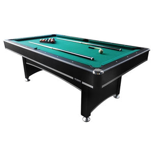 7' Black Pool Table with Table Tennis Top