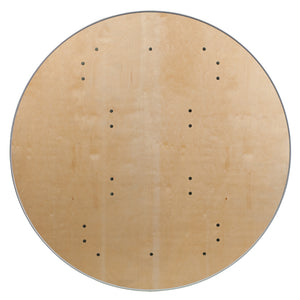 Round Birchwood Folding Cards Table