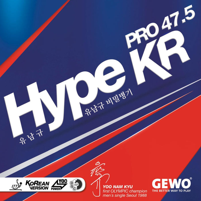 GEWO Hype KR Pro 47.5 Offensive Table Tennis Rubber