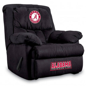 Alabama Crimson Tide NCAA Microfiber Home Team Recliner