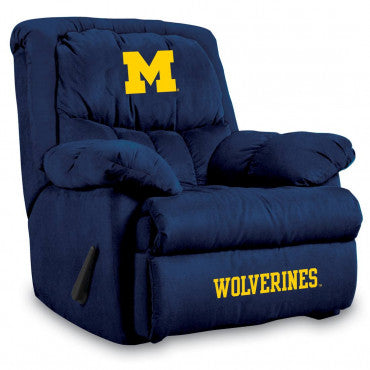 Michigan Wolverines NCAA Microfiber Home Team Recliner