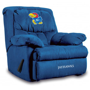 Kansas Jayhawks NCAA Microfiber Home Team Recliner