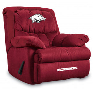 Arkansas Razonbacks NCAA Microfiber Home Team Recliner