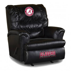 Alabama Crimson Tide NCAA Big Daddy Leather Recliner