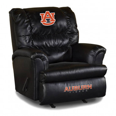 Auburn Tigers NCAA Big Daddy Leather Recliner