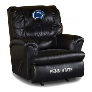 Penn State Nittany Lions NCAA Big Daddy Leather Recliner