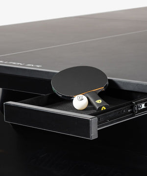 """The Revolution"" SVR Black Steel Indoor Table Tennis Table"