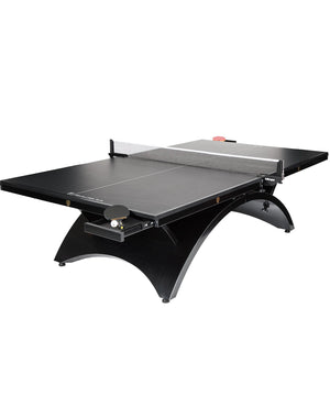 The Revolution SVR Black Steel Indoor Table Tennis Table