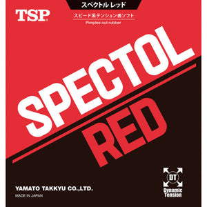 TSP Spectol Red Short Pips Out Table Tennis Rubber